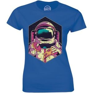 Space Man Astronauts Hungry Eats Donuts T-shirt